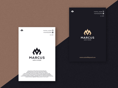 Marcus Advisor vector typography illustration app letter icon minimal logo design branding