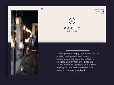 Pablo Domani logomaker vector typography illustration app letter icon minimal logo design branding