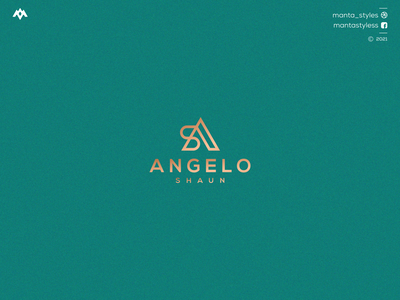 Angelo Shaun vector typography illustration app letter icon minimal logo design branding