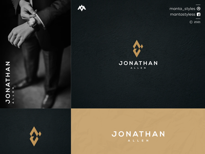 Jonathan Allen logomaker vector typography illustration app letter icon minimal logo design branding