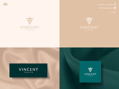 Vincent Travis flat logomaker vector typography illustration app letter icon minimal logo design branding