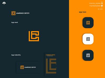 Lawrencee Critsti ux ui logomaker vector typography illustration app letter icon minimal logo design branding