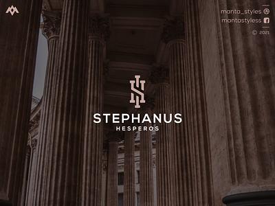 Stephanus Hesperos lettering logodesign uiux ui vector typography illustration app letter icon minimal logo design branding