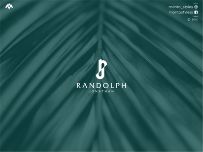 Randolph Jonathan luxury logo monogramlogo ux ui logomaker vector typography illustration app letter icon minimal logo design branding