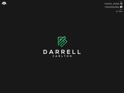 Darrell Carlton ux ui logomaker logodesign vector typography illustration app letter icon minimal logo design branding