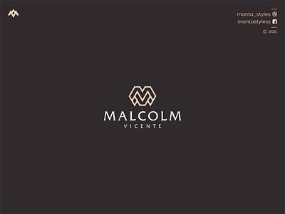 Malcolm Vicente monogramlogo uiux ui logomaker vector typography illustration app letter icon minimal logo design branding