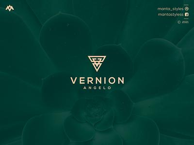 Vernion Angelo uiux ui logomaker vector typography illustration app letter icon minimal logo design branding