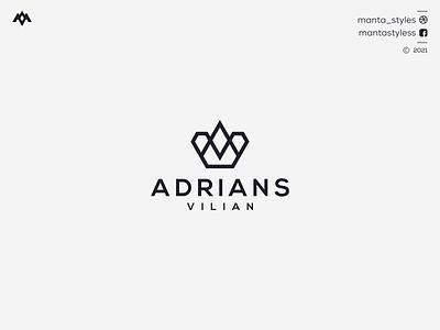 Adrians Vilian ux ui logomaker vector typography illustration app letter icon minimal logo design branding