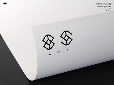 Monogram Logo logodesign ux ui logomaker vector typography illustration app letter icon minimal logo design branding