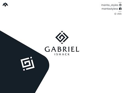 Gabriel Ishack ui design brsnd monogram logo ux ui logomaker vector typography illustration app letter icon minimal logo design branding