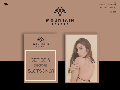 Mountain Resort ux ui logomaker logotype vector typography illustration app letter icon minimal logo design branding