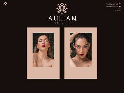 Aulian Wellnes vector ui illustration app letter icon minimal logo design branding