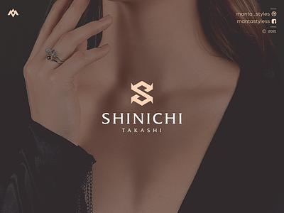 Shinichi Takashi jewelry monogram logo vector ui illustration app letter icon minimal logo design branding