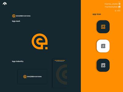 Ehceren Kayana fashion chloting vector ui illustration app letter icon minimal logo design branding