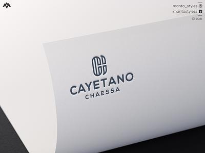 Cayetano Chaessa brand mark logo maker mobnogram logo vector ui illustration app letter icon minimal logo design branding