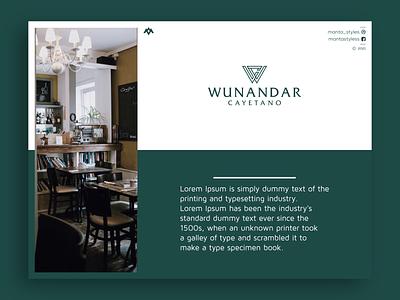 Wunandar Cayetano logo sale sale apparel clothing monogram logo vector ui illustration app letter icon minimal logo design branding