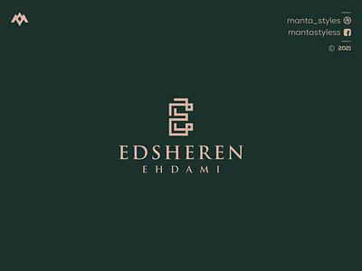 Edsheren Eddami ui vector app illustration letter icon minimal logo design branding
