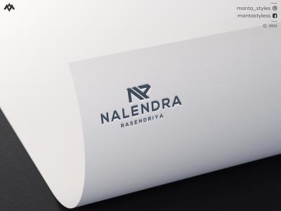 Nalendra Rasendriya brand mark ux initial logo logo maker letter n ui illustration app letter icon minimal logo design branding