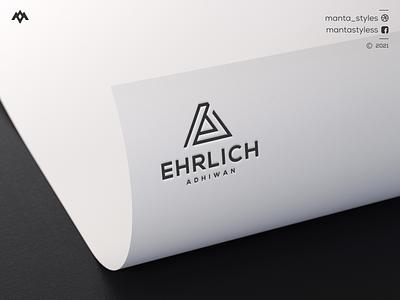 Ehrlich Adhiwan ux vector app ui illustration icon letter minimal design branding clothing apparel sport logo logo maker brandbrand mark monogram logo triangel logo ea concept ea logo