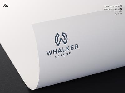 Initial W Logo brand