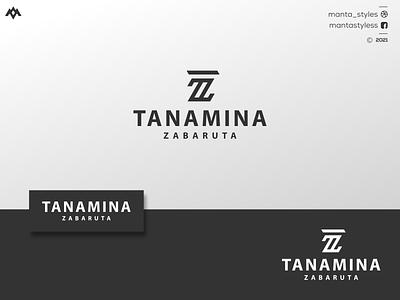 Initial TZ Logo typography brand mark brand logo maker initial initial logo vector ui illustration app letter logo icon minimal design branding