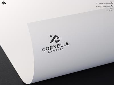 Cornelia Kamalia letter mark brand mark logo maker luxury logo sport logo vector ui illustration app letter icon minimal logo design branding
