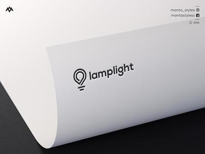 Lamplight Logo sport logo lineart logo lam logo light logo logo maker ui vector illustration app letter icon minimal logo design branding