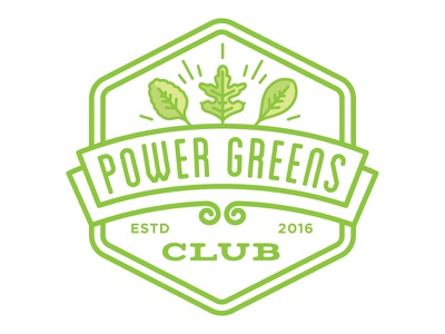 Power Greens Logo seal typography illusrtation logo green