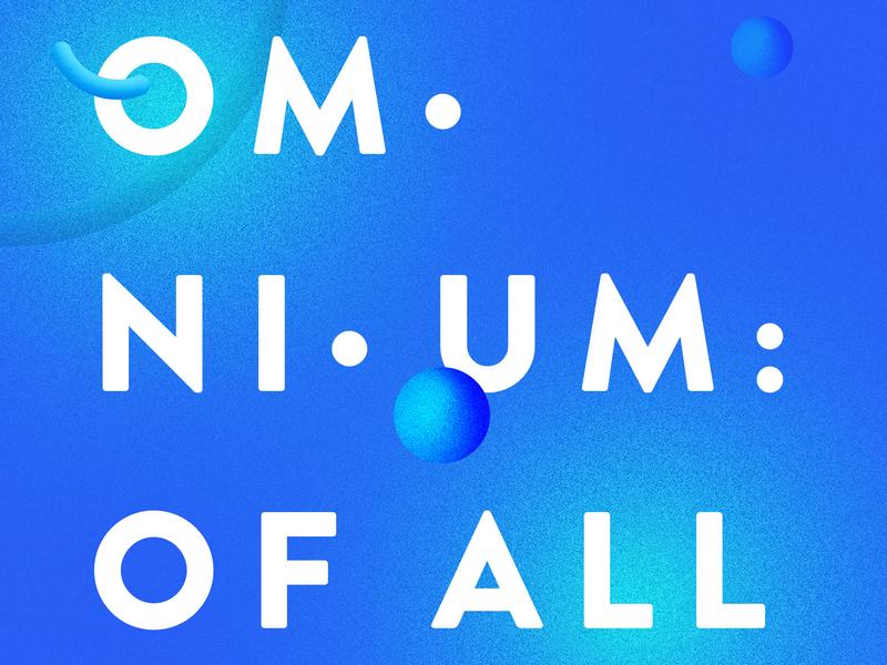 Omnium typography illustration