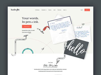Handwrytten typography illustration webdesign