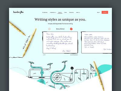 Handwrytten 3 webdesign design typography illustration