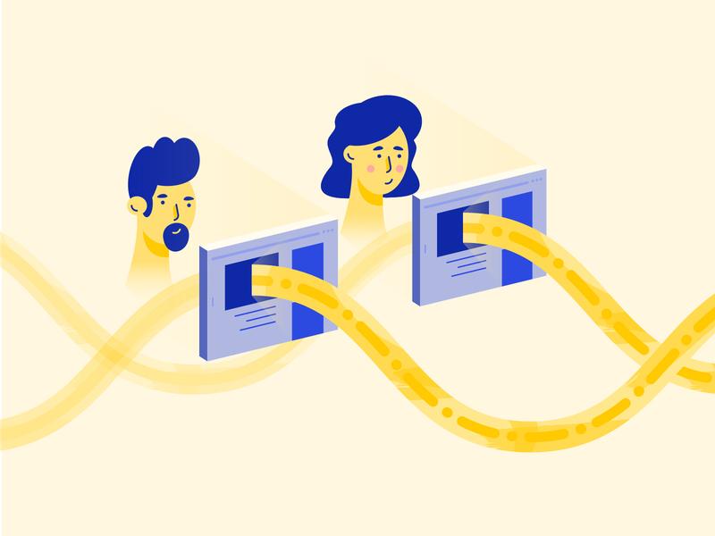 Synapbox User Flow colorful design illustration
