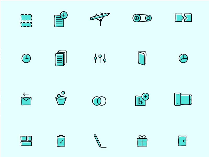 Handwrytten Icons design illustration icons