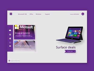Microsoft web app minimal ui design uiux ux website webdesign uidesign