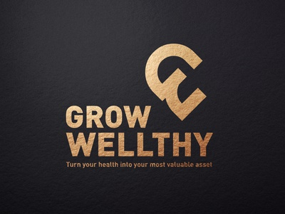 Grow Wellthy modern poster gif mobile lettering character brand clean graphic design photoshop typoraphy vector minimal flat illustraion logotype branding design logo