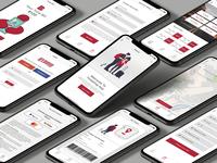 Hybrid Bus Online Ticket App(IOS) design kit xd ui kit xd design iphone x ios apple bus ui design minimal vector web app branding creative modern typography illustration ux ui