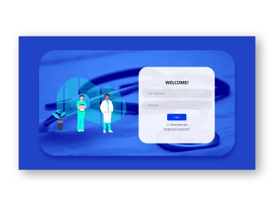 Doctor Login Screen download template web app icon typography modern vector illustration dashboad trendy user inteface ui page login page screen login screen login