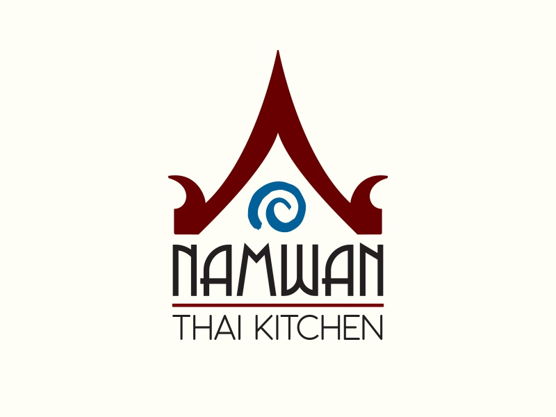 Thai Kitchen Logo namwan - thai kitchen logoms. grayson - dribbble