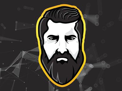 Twitch Emote V2 gold hair beard badge logo streaming digital design mascot emote illustration twitch