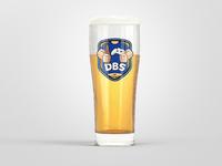 DadBodSquad Esports Team Logo Beer Glass