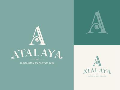 Atalaya Castle - Logo Concept state park park usa south carolina branding illustration design decorative iron typogaphy lettermark lettering graphic classy fancy vintage logo