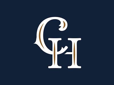 Monogram horse masculine lettering type typogaphy negative clean white luxury gold blue vintage branding logo lettermark monogram