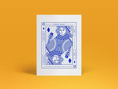 Casino Night chips poster