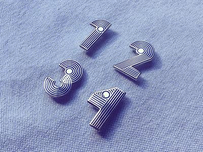 Anniversary Pins silver enamel pin pins