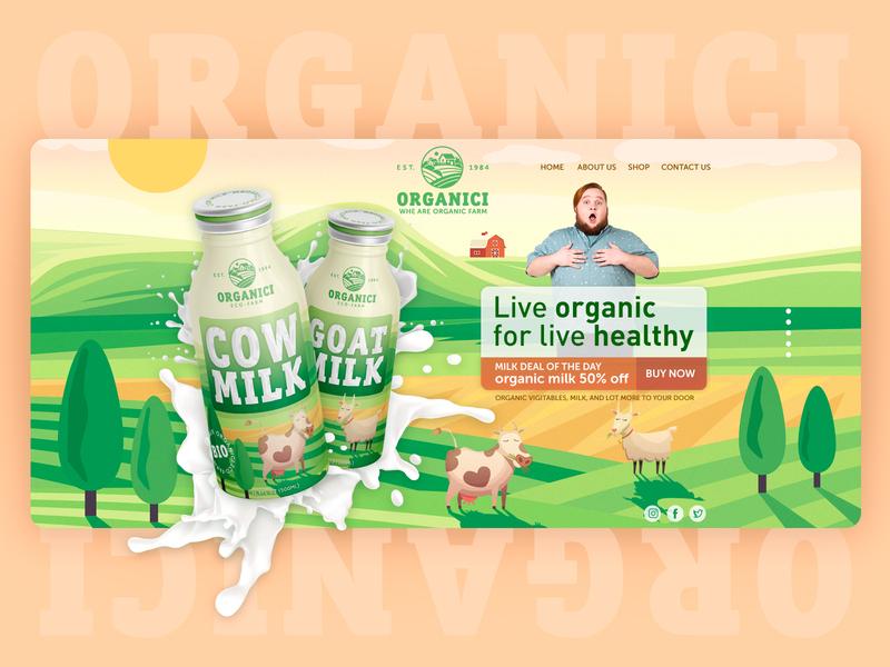 Organic Farm - Landing page organic website design landing page hero header ecofarm