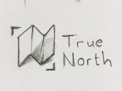True North: Map magnetic north true north north branding icon mountins map needle compass logo