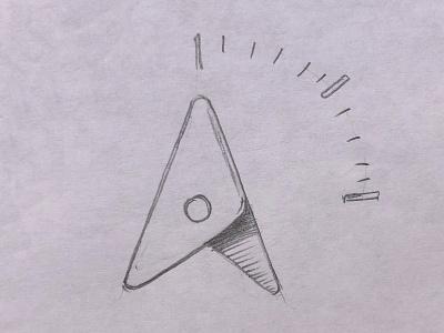 True North: Compass Needle compass direction compass needle true north north google icon branding logo
