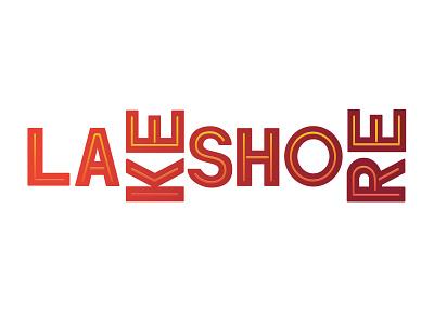 Lakeshore type chicago branding logo