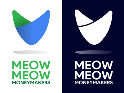 Sublime Cat shadow curves icon branding meow symbol logo ears sublime minimalist feline cat
