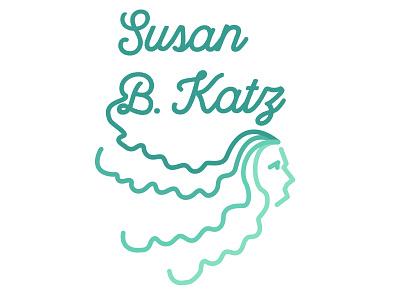 Susan B Katz: Hair hair as type wavy hair curls childrens book kids book hair branding logo writer author